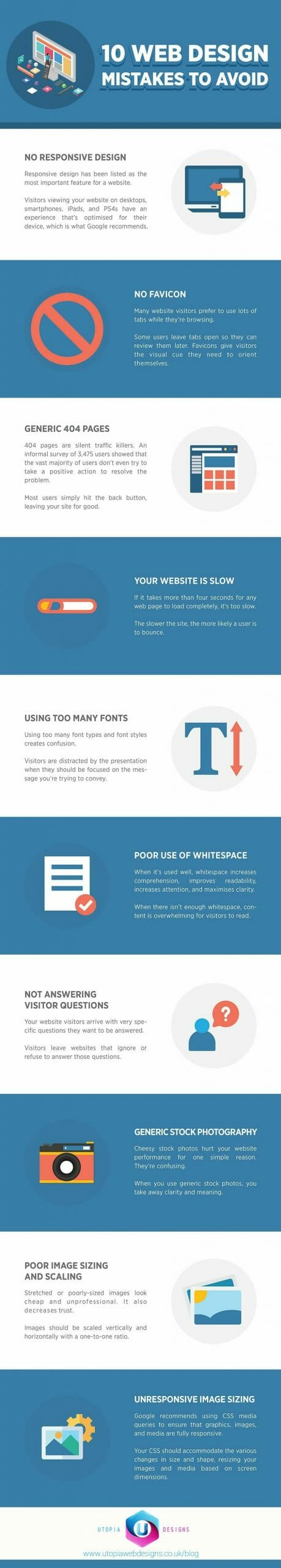 10 Web Design Mistakes To Avoid-Infographic