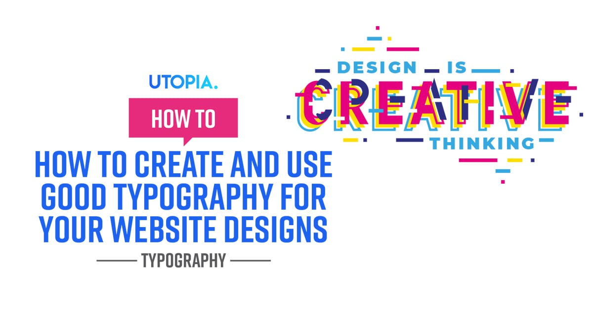 typography for your website designs